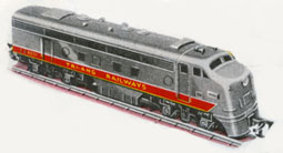 Transcontinental Diesel Locomotive - Non Powered