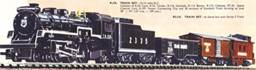 Transcontinental Train Set (Pacific Goods)