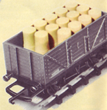 Open Wagon With Oil Drum Load