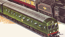 00 HORNBY SPARES PLASTIC MODEL OF AN ELECTRIC STATION LUGGAGE TROLLEY//TRAILER