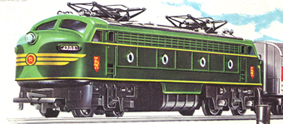 Double-ended Diesel Locomotive With Working Pantographs (TR Shields)