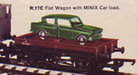 Flat Wagon with Car Load