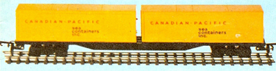 60ft Flat Car With Two 30ft Sea Containers Inc. Containers (Canada)
