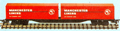 60ft Flat Car With Two 30ft Manchester Liners Containers (Canada)