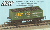 J. Bly & Co 12 Ton Coal Wagon with Load