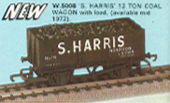 S. Harris 12 Ton Coal Wagon with Load