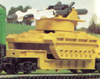 Tank Transporter with Missile-firing Tank