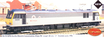 Class 92 Co-Co Electric Locomotive - Milton