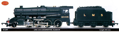 Hornby X9264 Class 8F 2-8-0 Driving Wheel Set Blackened