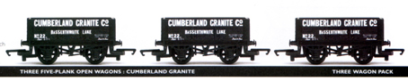 Cumberland Granite 5 Plank Open Wagon - Three Wagon Pack