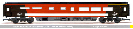 Virgin Mk.3 First Class Buffet Car (Trailer Buffet First)