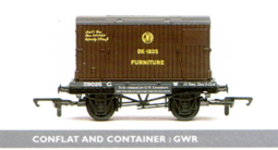 G.W.R. Container And Conflat Wagon