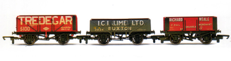 Tredegar, I.C.I. Lime and Richard Weale Open Wagons - Three Wagon Pack (Weathered)