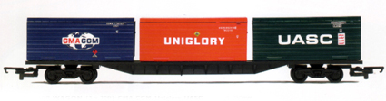 Container Wagon (3 x 20ft) - CMA CGM, Uniglory and UASC