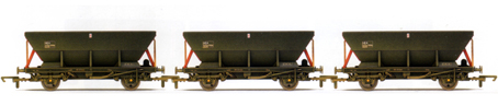 Loadhaul HEA Hoppers - Three Wagon Pack (Weathered)