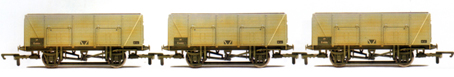 B.R. 9 Plank Mineral Wagons - Three Wagon Pack (Weathered)
