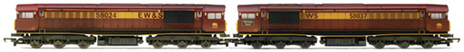Class 58 Diesel Electric Locomotive - Workshop Depot (Multiple Working) (Weathered)