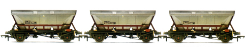 EWS 32.5T MGR Coal Hoppers With Canopies (HBA) - Three Wagon Pack (Weathered)