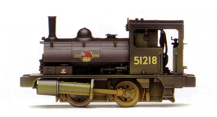 0-4-0T Pug Locomotive (Weathered)