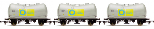 Blue Circle Cement Vee Tank Wagons - Three Wagon Pack (Weathered)