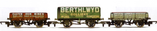 Easter Iron Mines, Berthlwyd and Imperial Chemical Industries Open Wagons - Three Wagon Pack (Weathered)