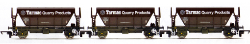 Tarmac Quarry Products Procor Hoppers - Three Wagon Pack (Weathered)