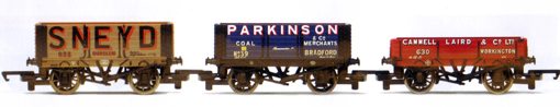 Sneyd, Parkinson, Cammell Laird Open Wagons - Three Wagon Pack (Weathered)
