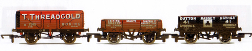 Threadgold, Ceiriog Granite and Dutton Massey Open Wagons - Three Wagon Pack (Weathered)