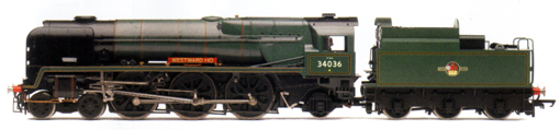Rebuilt West Country Class Locomotive - Westward Ho