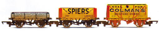 James Carter, Spiers and Colemans Mustard Works Private Owner Wagons - Three Wagon Pack (Weathered)