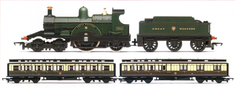 G.W.R. 4-2-2 Train Pack (Dean Single - Great Western)  - G.W.R. 175 Celebration Pack