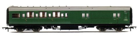 B.R. (Ex S.R.) 4 Compartment Brake 3rd Class Coach