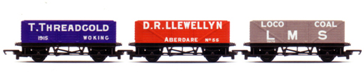 T.Threadgold, D.R.Llewellyn, LMS Loco Coal Open Wagons - Open Wagon Pack