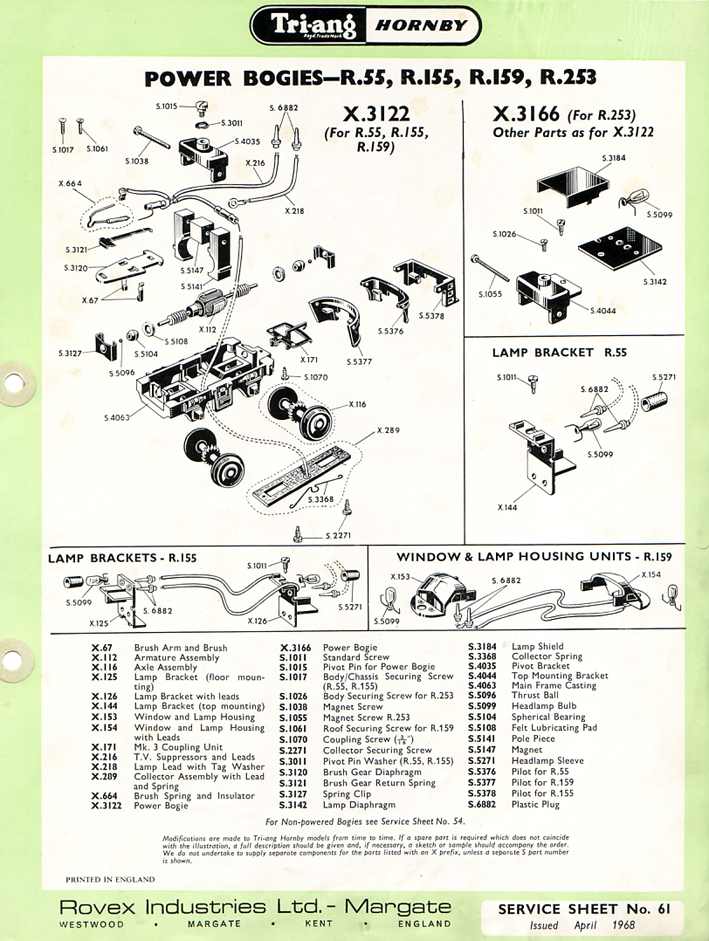 Hornby Railways Collector Guide  Service Sheet  61